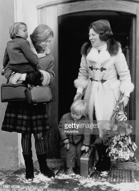 Princess Beatrix , later Queen Beatrix of the Netherlands, arrives in Lech, Austria, for a family holiday, 12th March 1970. The princess is pictured...
