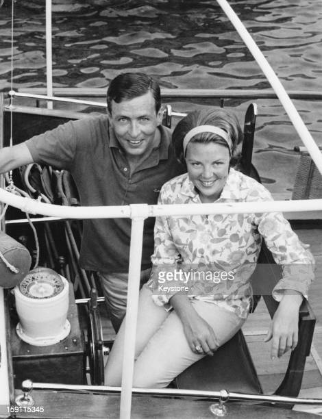 Princess Beatrix later Queen Beatrix of the Netherlands with her fiance Claus van Amsberg during a holiday in Porto Ercole Italy July 1965 The...