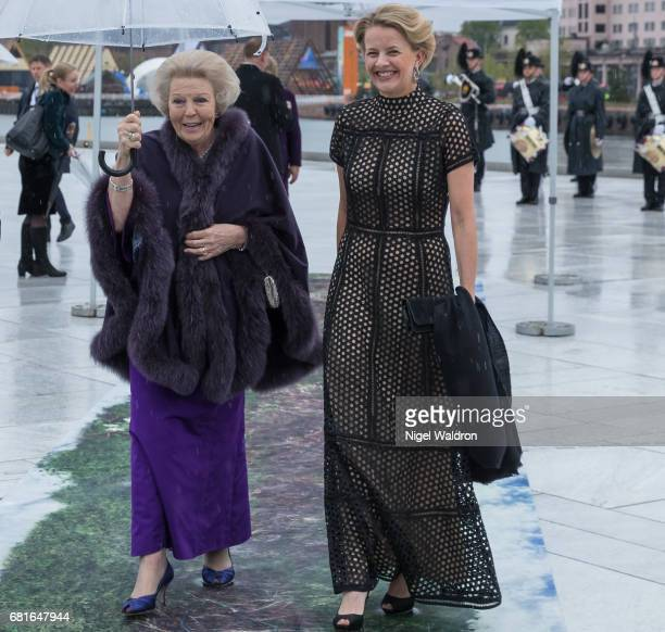 Princess Beatrix of Netherlands and Princess Mabel of OranienNassau of Netherlands arrives at the Opera House on the occasion of the celebration of...