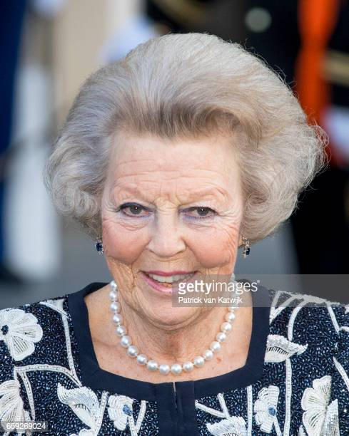 Princess Beatrix of The Netherlands after the ballet performance offered by the President of Argentie at theater Dilligentia on March 28 2017 in The...