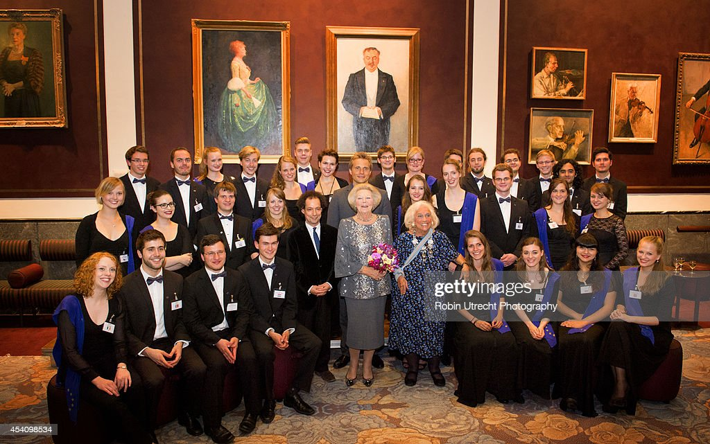 Dutch Princess Beatrix of the Netherlands of the Netherlands At The European Union Youth Orchestra : News Photo