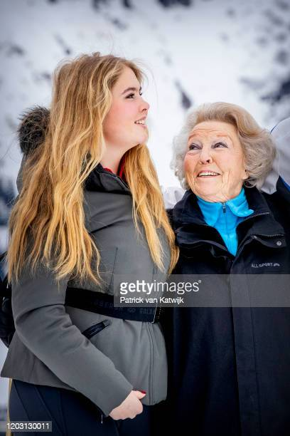 Princess Beatrix of The Netherlands and Princess Amalia of The Netherlands during the annual photo call on February 25 2020 in Lech Austria