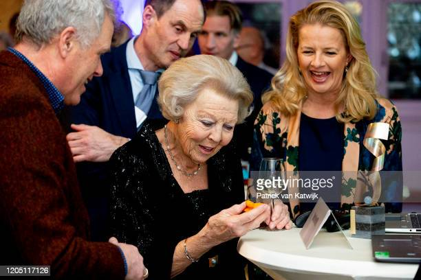 Princess Beatrix of The Netherlands and Princess Mabel of The Netherlands attend the Prince Friso engineer award on March 4 2020 in Delft Netherlands