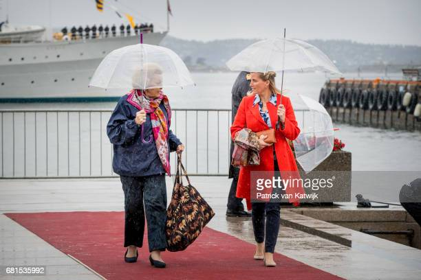 Princess Beatrix of The Netherlands and Sophie Countess of Wessex attend a lunch on the Royal yatch Norge on the ocassion of the celebration of King...