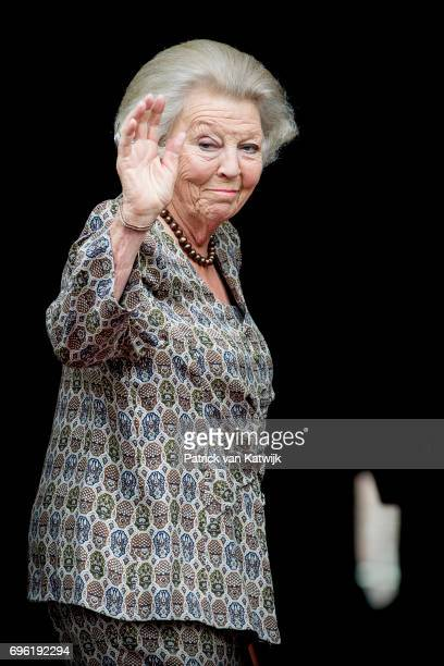 Princess Beatrix of The Netherlands arrives at the Royal Palace for the annual palace symposium on June 15 2017 in Amsterdam Netherlands Theme of the...
