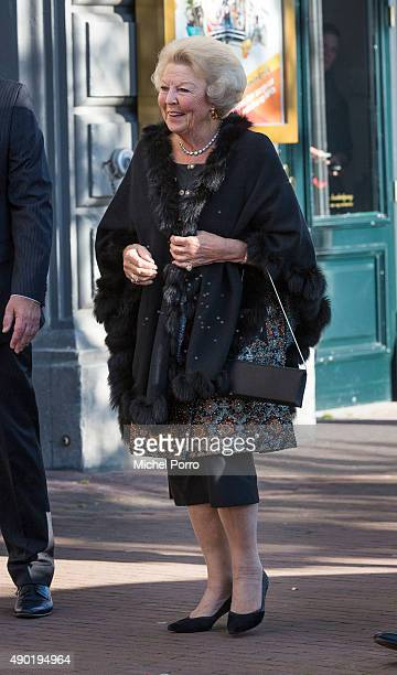 Princess Beatrix of The Netherlands arrives for festivities marking the final celebrations of 200 years Kingdom of The Netherlands on September 26...