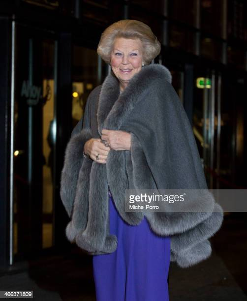 Princess Beatrix of The Netherlands arrives to attend a celebration of the reign of Princess Beatrix on February 1 2014 in Rotterdam Netherlands