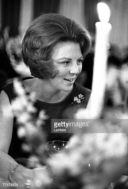 Princess Beatrix of the Netherlands at her Wedding to Prince Claus von Amsburg in Amsterdam on 11th March 1966. .