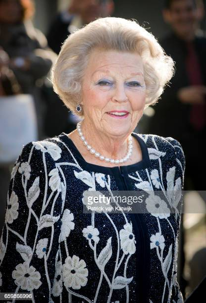 Princess Beatrix of The Netherlands at theater Dilligentia after the ballet performance offered by the Argentinean president on March 28 2017 in The...
