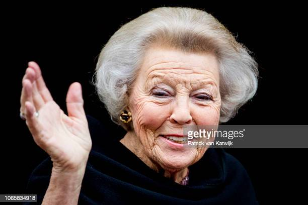 Princess Beatrix of the Netherlands attend the award ceremony of the Erasmus Prize 2018 to writer and journalist Barbara Ehrenreich on November 27,...