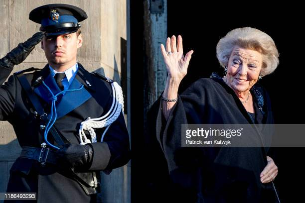 Princess Beatrix of The Netherlands attend the Prince Claus Award ceremony in the Royal Palace on December 4, 2019 in Amsterdam, Netherlands. Winner...