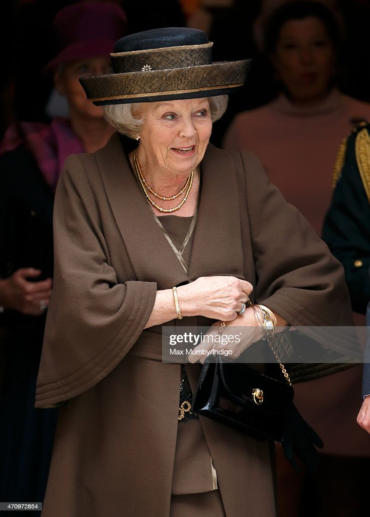 Princess Beatrix of The Netherlands attends celebrations to mark the 140th anniversary of the King William Fund at the Dutch Church on April 24, 2015 in London, England.