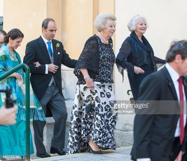 Princess Beatrix of The Netherlands attends Juan Zorreguieta and Andrea Wolf's wedding at palais Liechtenstein on June 7, 2014 in Vienna, Austria.
