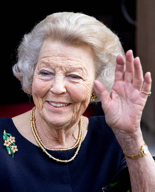 NLD: Princess Beatrix Of The Netherlands Attends Zilveren Anjers Award Ceremony In Amsterdam