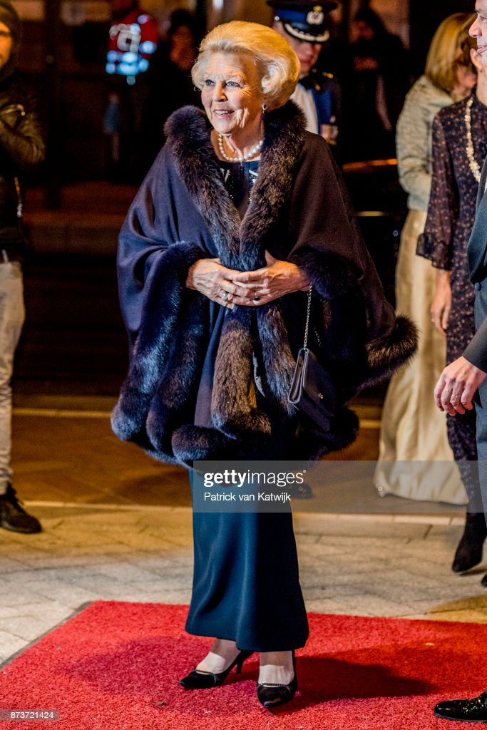 Princess Beatrix Of The Netherlands  At Balletgala Dansersfonds in DeLaMar theater In Amsterdam