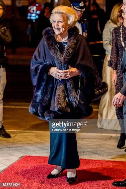 Princess Beatrix of The Netherlands attends the ballet gala of foundation Dansersfonds 79 in theater DeLaMar the on October 12 2017 in Amsterdam...