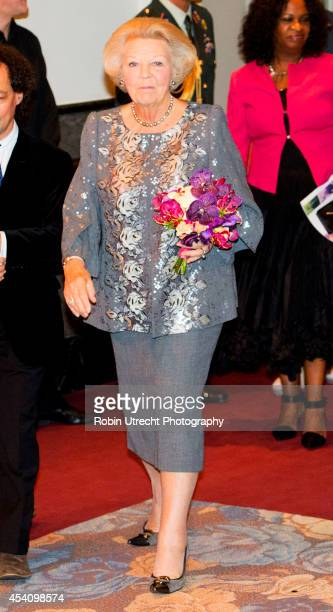 Princess Beatrix of the Netherlands attends the European Union Youth Orchestra concert on August 24 2014 in Amsterdam Netherlands