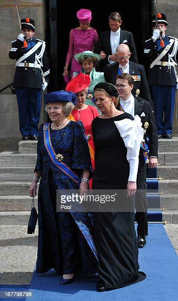 Princess Beatrix of the Netherlands attends the inauguration ceremony for HM King Willem Alexander of the Netherlands at New Church on April 30 2013...