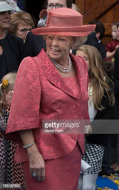 Princess Beatrix of The Netherlands attends the wedding of Prince Jaime de Bourbon Parme and Viktoria Cservenyak at The Church Of Our Lady At...