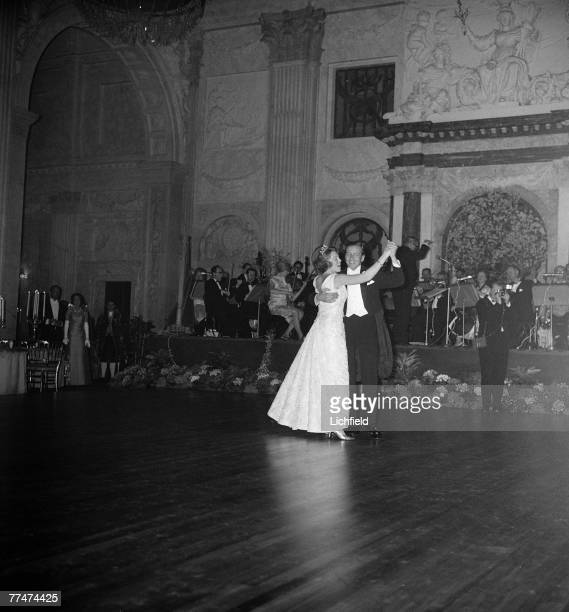 HRH Princess Beatrix of the Netherlands dancing with her husband HRH Prince Claus von Amsburg at their Wedding in Amsterdam on 11th March 1966