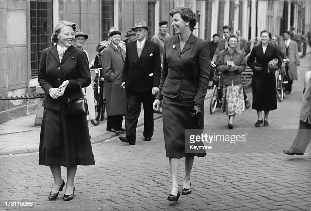 Princess Beatrix of the Netherlands during her time as a student at Leiden University Leiden Netherlands September 1956