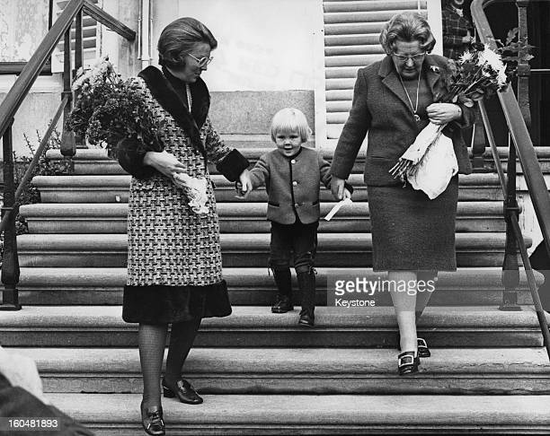 Princess Beatrix of the Netherlands , her eldest son, Willem-Alexander, Prince of Orange and Queen Juliana of the Netherlands at a performance by the...