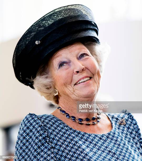 Princess Beatrix of The Netherlands opens the cultural center Zinder for music, dance, theater, art, literature and information on October 26, 2017...