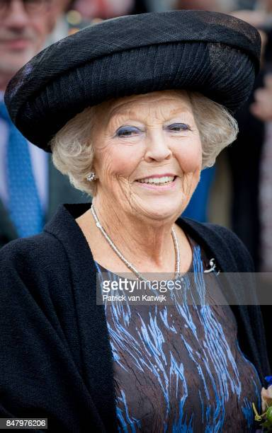 Princess Beatrix of The Netherlands opens the jubilee Exhibition WeerZien at Museum de Pont on September 16 2017 in Tilburg Netherlands The Princess...