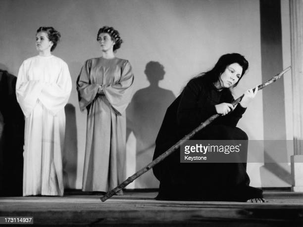 Princess Beatrix of the Netherlands performing in a nativity play at Royal Palace in Amsterdam 21st December 1961