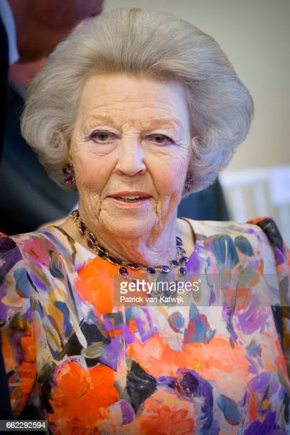 Princess Beatrix of The Netherlands visits the information center at nature park Arikok on March 31 2017 in Oranjestad Aruba The Princess is in Aruba...