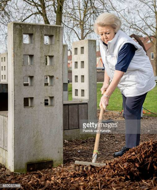 Princess Beatrix of The Netherlands volunteers for NL Doet in the the kindergarden on March 11 207 in IJsstelsteijn The Netherlands NL Doet is a...