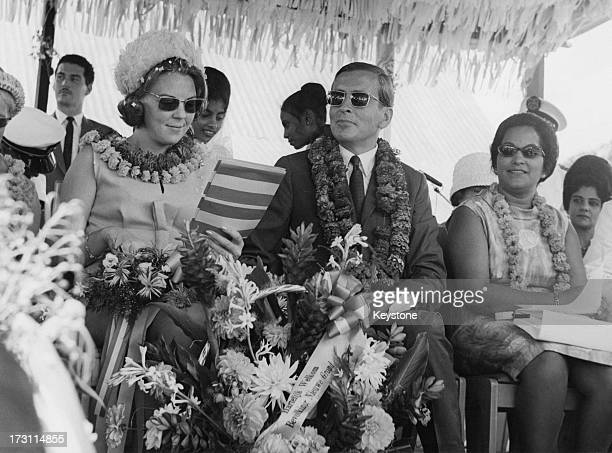 Princess Beatrix of the Netherlands with her husband Prince Claus in Coronie during a visit to Suriname 13th July 1966