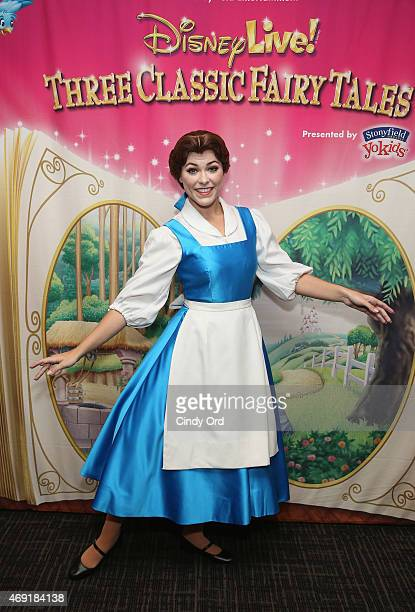 Princess Belle attends The Moms 'Disney Live' Mamarazzi Event with Alana Nicole Feld at Madison Square Garden on April 10 2015 in New York City