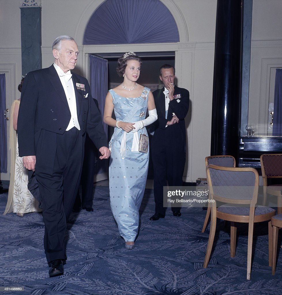 Prince George And Princess Benedikte Of Denmark : News Photo
