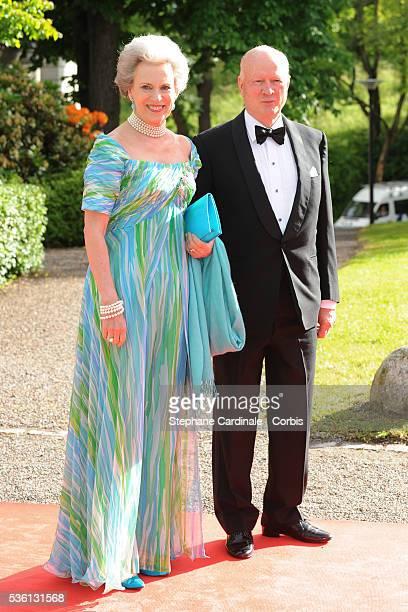 Princess Benedikte and Prince Richard zu SaynWittgensteinBerleburg attend the Government PreWedding Dinner for Crown Princess Victoria of Sweden and...