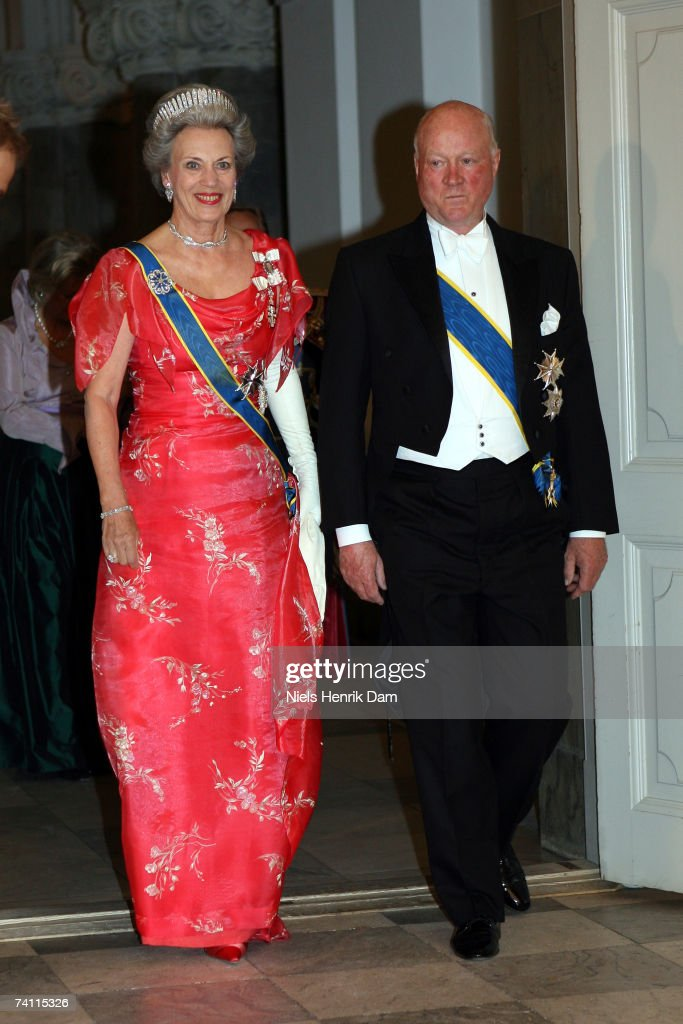 HRH Princess Benedikte and Prince Richard zuSayn-Wittgenstein-Berleburg of Denmark attend a gala event at the Christiansborg Palace on May 9, 2007 in Copenhagen, Denmark. King Carl XVI Gustaf, Queen Silvia and Crown Princess Victoria of Sweden are paying Denmark a 3-day state visit.