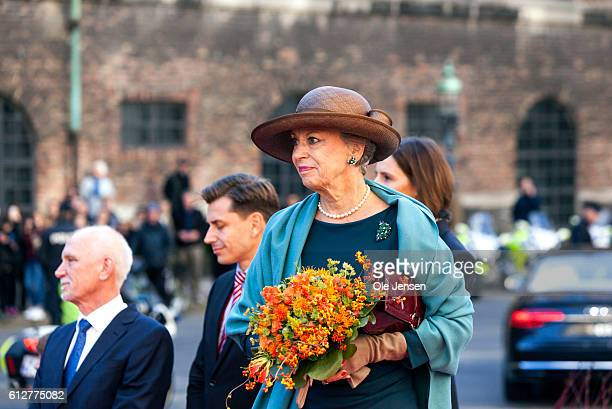 Princess Benedikte arrives to the Parliament where she and the rest of the Royal family will attend the opening of the Parliament at Christiansborg...