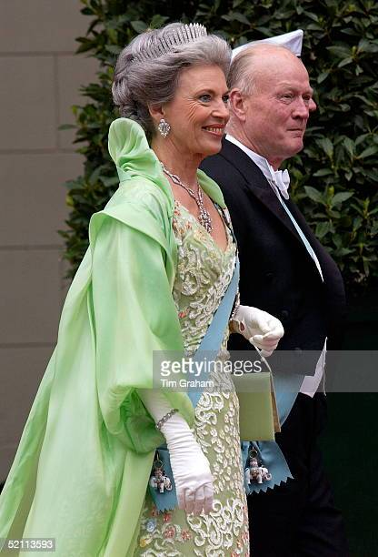 Princess Benedikte Of Denmark And Her Husband Richard At The Royal Wedding In Copenhagen Cathedral