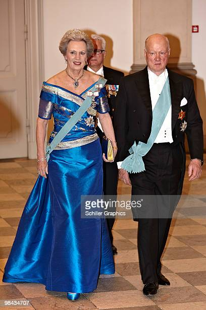Princess Benedikte of Denmark and Prince Richard of Denmark attend day one of Queen Margrethe 70th birthday celebrations on April 13, 2010 in...