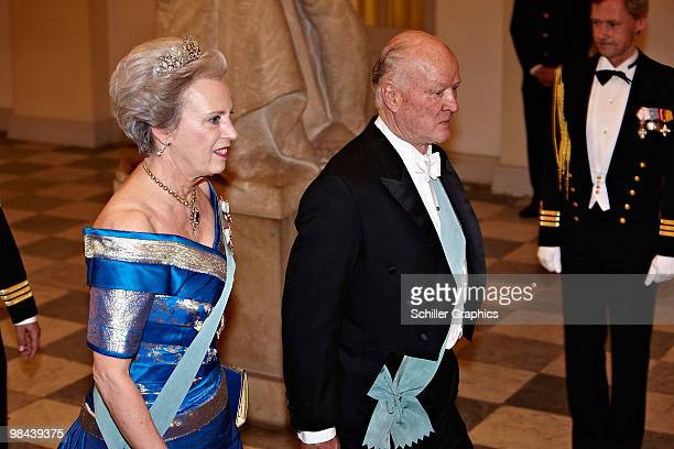 Princess Benedikte of Denmark and Prince Richard of Denmark attend Queen Margrethe 70th Birthday Celebrations - Day 1 on April 13, 2010 in...