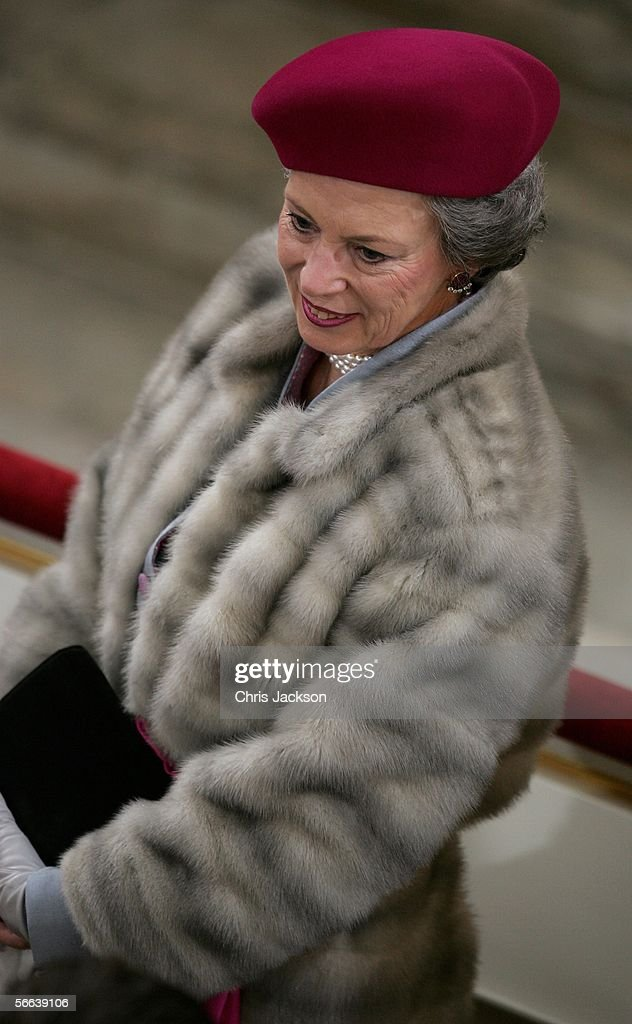Danish Royals Christen Their New Son : News Photo