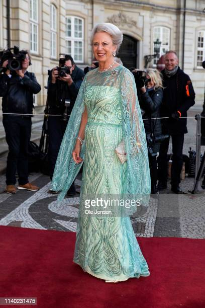 Princess Benedikte of Denmark arrives to her 75th birthday party which is hosted by her sister Queen Margrethe arrives at Amalienborg Palace on April...