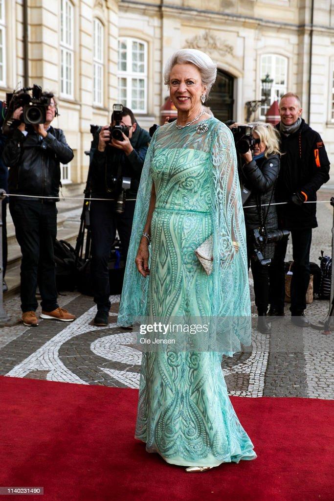 Queen Margrethe Of Denmark Host Birthday Dinner For Her Sister Princess Benedikte : News Photo
