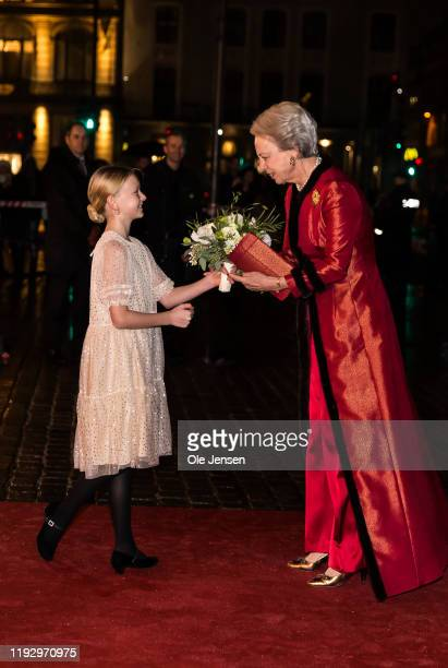 Princess Benedikte of Denmark arrives to participate at a Gala Performance celebrating the Centennial Year of the Reunification Of Southern Denmark...