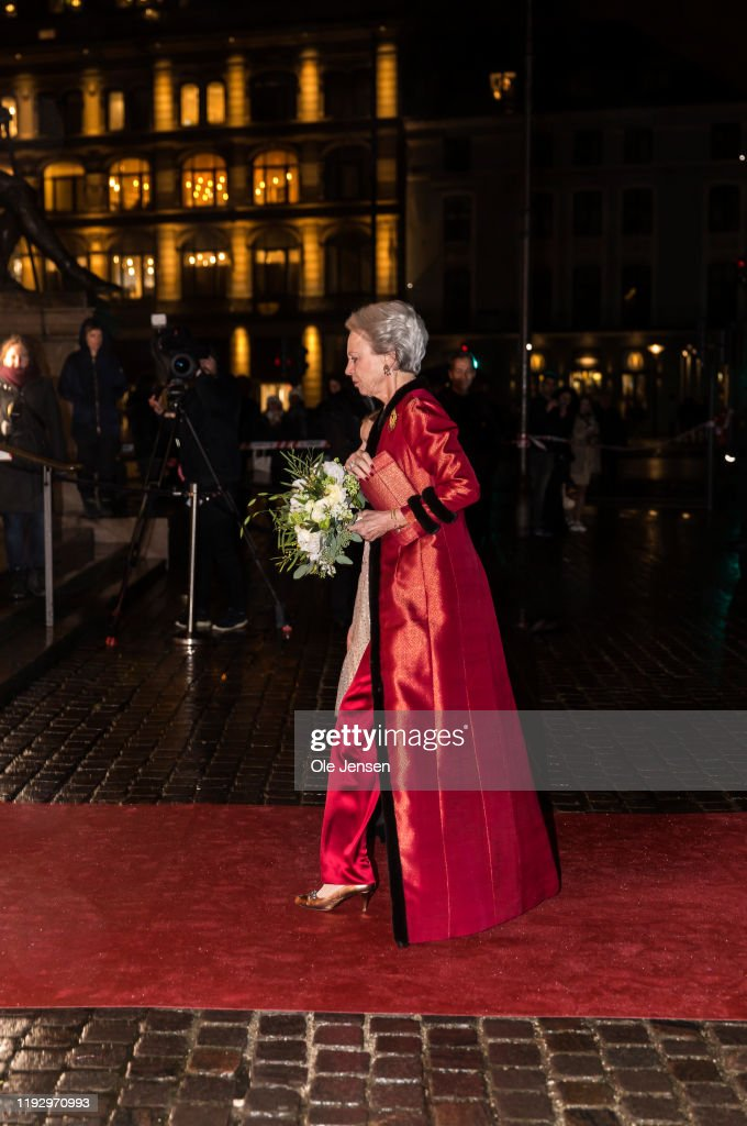 Queen Margrethe Of Denmark Participates At A Gala Performance : News Photo