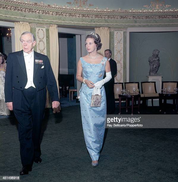 Princess Benedikte of Denmark during an AngloDanish dinner dance at the Dorchester Hotel in London circa 1962
