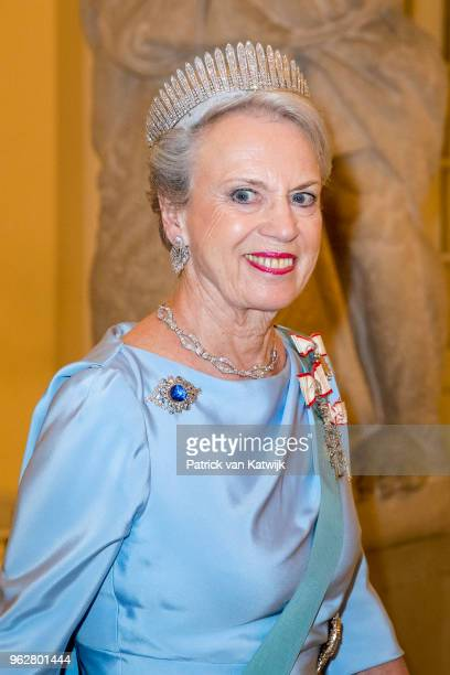 Princess Benedikte of Denmark during the gala banquet on the occasion of The Crown Prince's 50th birthday at Christiansborg Palace Chapel on May 26...