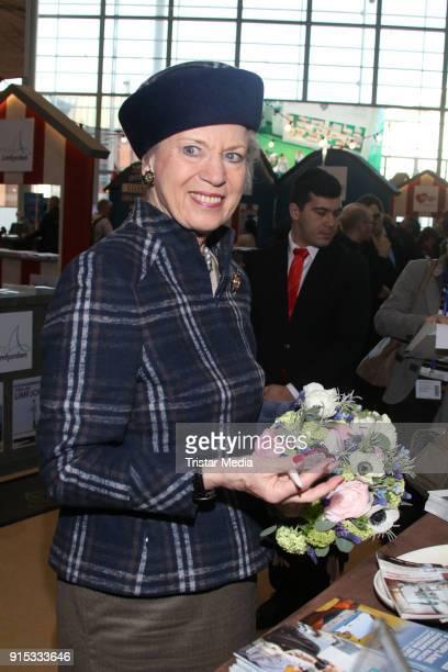 Princess Benedikte of Denmark during the opening of HAMBURG REISEN at Hamburg Messe on February 7 2018 in Hamburg Germany The leisure and tourism...