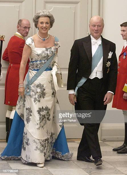 Princess Benedikte Of Denmark Husband Prince Richard Berleburg Attend A Gala Dinner At Christiansborg Palace