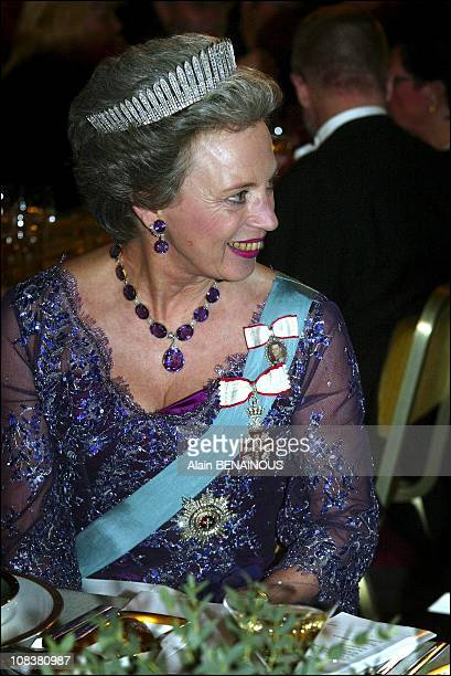 Princess Benedikte of Denmark in Stockholm Sweden on December 10 2002